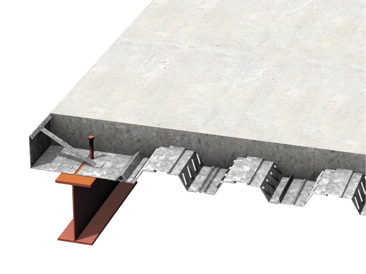 نمای شماتیک سقف عرشه فولادی