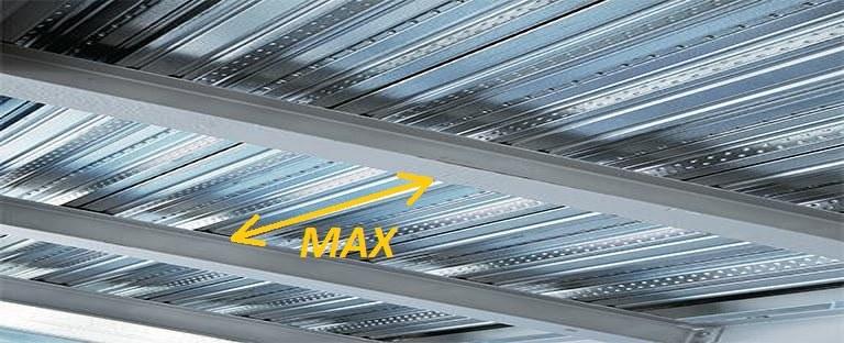 حداکثر فاصله تیرهای فرعی در سقف های مرکب عرشه فولادی با تاکید بر تغییرشکل و ارتعاش سقف ها